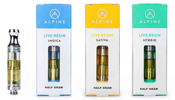 alpine vapor live resin cartridges
