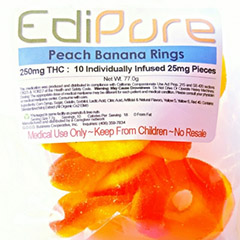 Edipure Peach Banana Rings 250mg THC