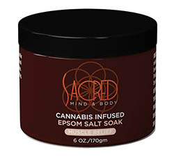Sacred Mind & Body Cannabis Infused Epson Salt Soak 6 oz